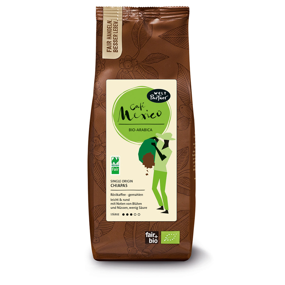 250g-Packung gemahlener Fair Trade- Kaffee ''Café Mexico''