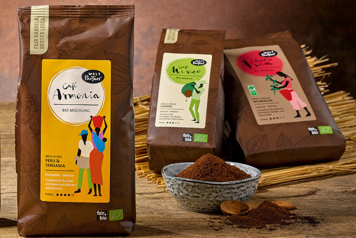 Neues Fair Trade Kaffee Sortiment